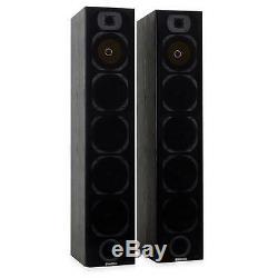 1200 W Passive Floor Standing Hi-fi Tower Speaker Pair Sound System Black