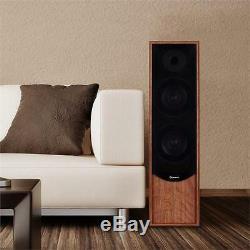 160 W Rms Tower Speaker Pair Hifi Home Cinema Floor Standing Speakers 2-way