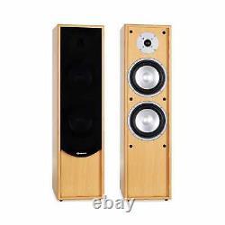 160w Rms Tower Speaker Pair 2-way Hifi Home Cinema Floor Standing Speaker Set