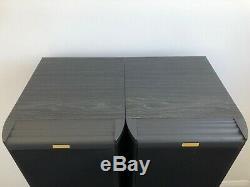 2 Floor Standing 4-Way Tower Tall Jamo Classic 8 Speakers 4 Ohm 200W Black Pair