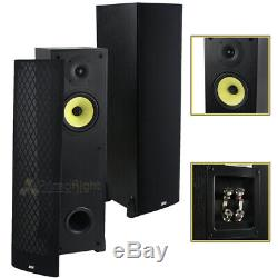 2 Pack Home Audio 6.5 2-Way Theater Floor standing Tower Speakers Pair DCM MTX