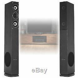4x Fenton Home Hifi 6.5 3-Way Column Floor Standing Speakers 2000W SSC2058
