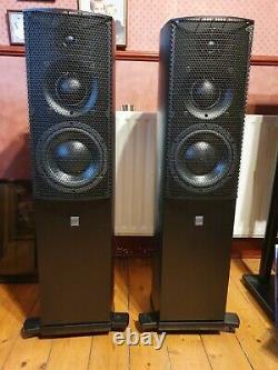 ATC scm 40 v2 floorstanding speakers in black, excellent condition