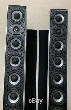 Athena WS-100 Three 3 Way Floorstanding Aluminum Speakers
