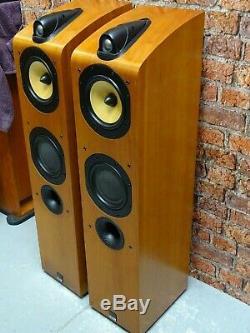 BOXED! Pair Of Bowers & Wilkins B&W 704 Cherrywood Floor Standing Loud Speakers