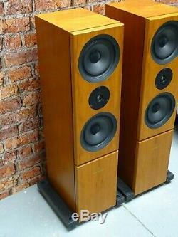 BOXED! STUNNING Linn Keilidh Floor Standing Loud Speakers With Kustone Bases