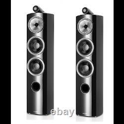 B&W 804 D3 Floor Standing Speaker Pair Black CTI NIN-0834