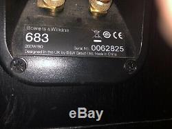 B&W Bowers & Wilkins 683 bi wire floor standing stereo speakers bass reflex