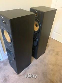 B&W Bowers and Wilkins DM603 150W Floor Standing Speakers System Black B2