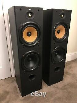 B&W Bowers and Wilkins DM603 150W Floor Standing Speakers System Black D1