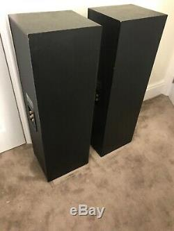B&W Bowers and Wilkins DM603 150W Floor Standing Speakers System Black D2