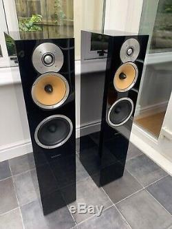 B&W CM7 Piano Gloss Black Bowers & Wilkins Floor Standing Speakers Audiophile