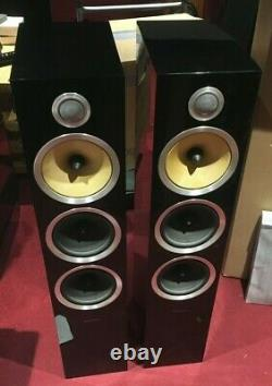 B&W CM9 S2 Floorstanding Speaker Pair Black NIN-1561