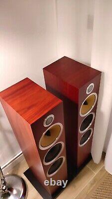 B&W CM9 S2 Floorstanding Speakers Rosenut