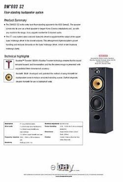 B&W DM603 S2 Brown Bowers Wilkins Floor Standing Speakers Audiophile England UK