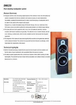 B&W DM620i Bowers and Wilkins Floor Standing Speakers Audiophile DM620 150W 4Ohm