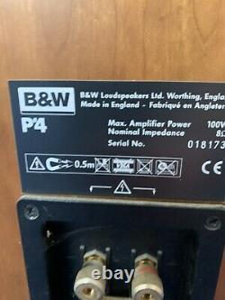 B&W P4 100W Brown Bowers Wilkins Floor Standing Speakers. Damaged repairable