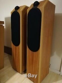 B&W Special Edition CDM 7 Oak Wood Floor Standing Tower Speakers