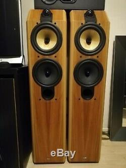 B&W Special Edition CDM 7 Oak Wood Floor Standing Tower Speakers Monitors