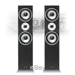 Bluetooth Home Hifi Stereo System Black Floor Standing Speakers and Amplifier