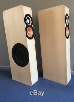 Boenicke W11 floor standing speakers in Ash slightly used, boxed with Swing Base