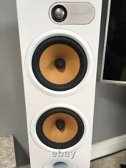 Bowers & Wilkins B&W 684 Pair Floor Stander Standing Speakers White