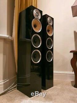 Bowers Wilkins CM8 Floorstanding Speakers PIANO BLACK B&W (PAIR)