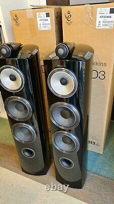 Bowers and Wilkins B&W 804 D3 Floor Standing Speaker Pair Black