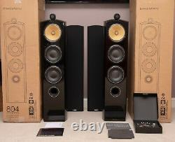 Boxed & Accessories! B&W 804D2 804 D2 Bowers Wilkins Speakers DIAMOND Piano
