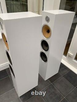 Boxed! B&W CM9 S2 White 200W Bowers Wilkins Floor Standing Speakers Audiophile