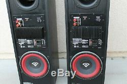 Cerwin Vega RL-18P Floor Standing Speakers Built In Subwoofer Amplifier