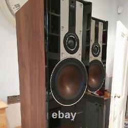 DALI Opticon 5 floor standing audiophile speakers Walnut & Black