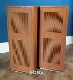 Dynatron LS200 Vintage Mid Century 70s Teak Body Floorstanding Speakers Goodmans