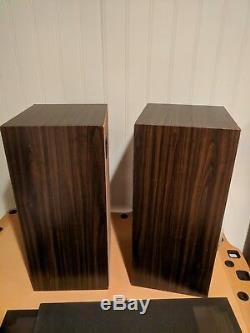 Excellent Vintage 1980s Technics SB-K25 40W 3 way stereo floorstanding speakers
