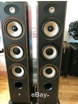 Focal Aria 926 Floor Standing Speakers Pair Tower Loudspeakers Hifi Audio Walnut