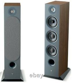 Focal Chora 826 Speakers Dark Wood Floor Standing Large Tall Tower