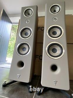 Focal Kanta N3 Floorstanding Speakers Walnut V Warm Taupe Mat RRP £9000