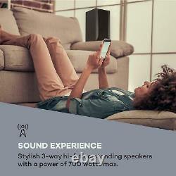 Hi fi Speakers System Floor standing Tower DJ Party Home Audio 700W Black