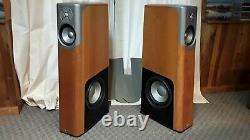 Infinity Kappa 600 floor standing speakers in Cherry veneer