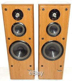 Infinity Reference Four vintage floor standing speakers with refoamed woofers an