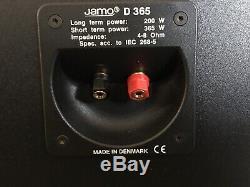 Jamo d 365 loud floorstanding speakers, 15 woofers, horn tweeters