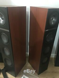 KEF Q500 Uni-Q Driver Floor Standing Speakers In English Cherry Pair Boxed