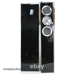 KEF R500 Loudspeakers Pair Piano Gloss Black Floorstanding Speakers