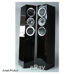 KEF R500 Loudspeakers Piano Black Floorstanding Tower Speakers PAIR R-500