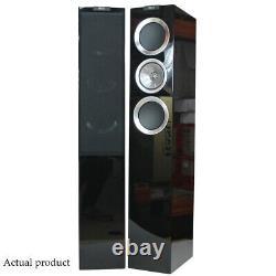 KEF R500 Speakers Black Gloss Floorstanding Loudspeakers Uni-Q Drivers