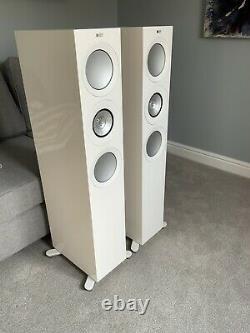 KEF R7 Floorstanding Speakers Gloss White, Brand New