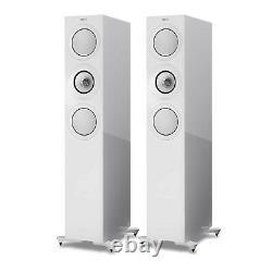 KEF R7 Floorstanding Speakers White RRP £2599 Trade In Pair