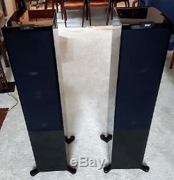 KEF R900 Reference Floorstanding Hi-Fi Speakers Piano Black