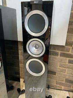 KEF R-Series R500 Piano Black Floor Standing Speakers & Grills WEST LONDON
