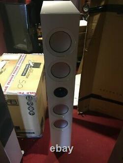 KEF Reference 5 Floor Standing Speakers Ice White CTI NIN-1563